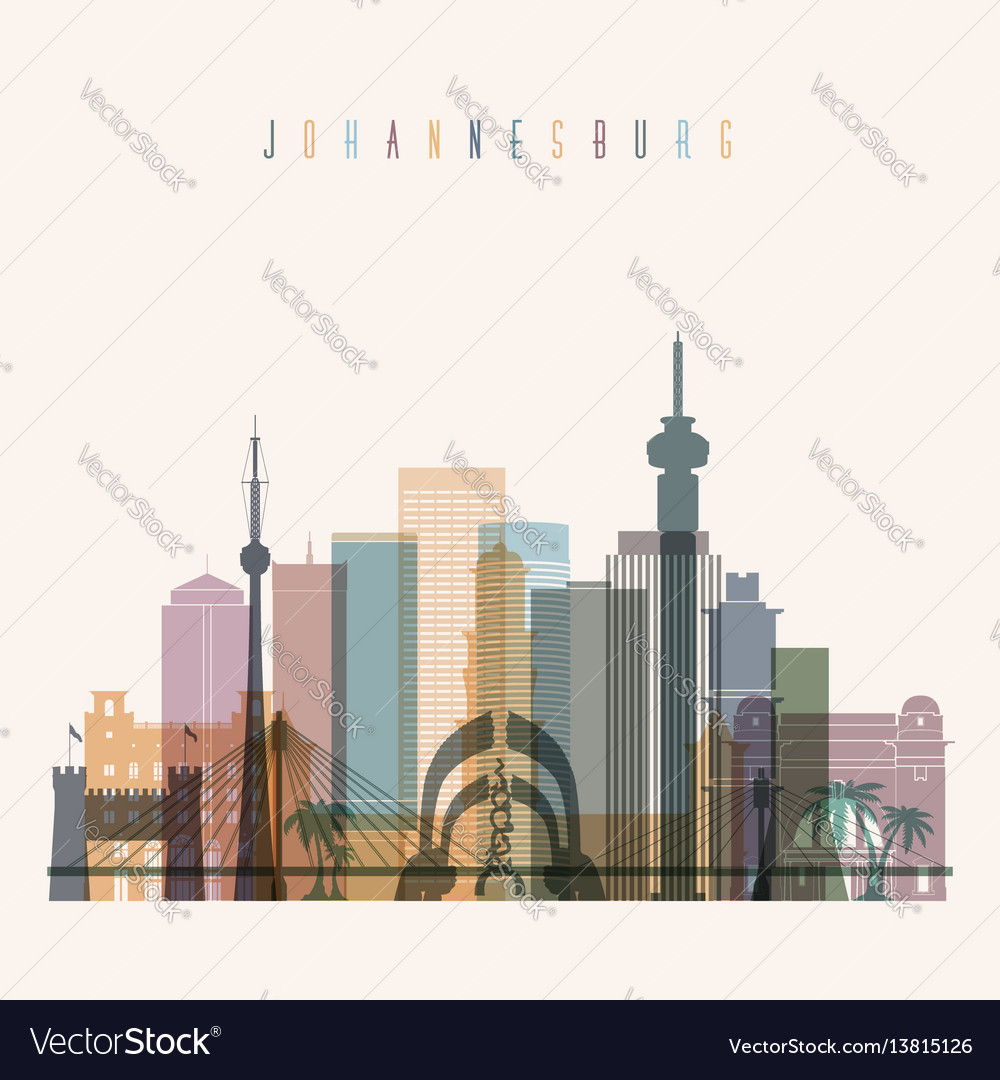 Johannesburg skyline detailed silhouette vector image thecheapjerseys Images