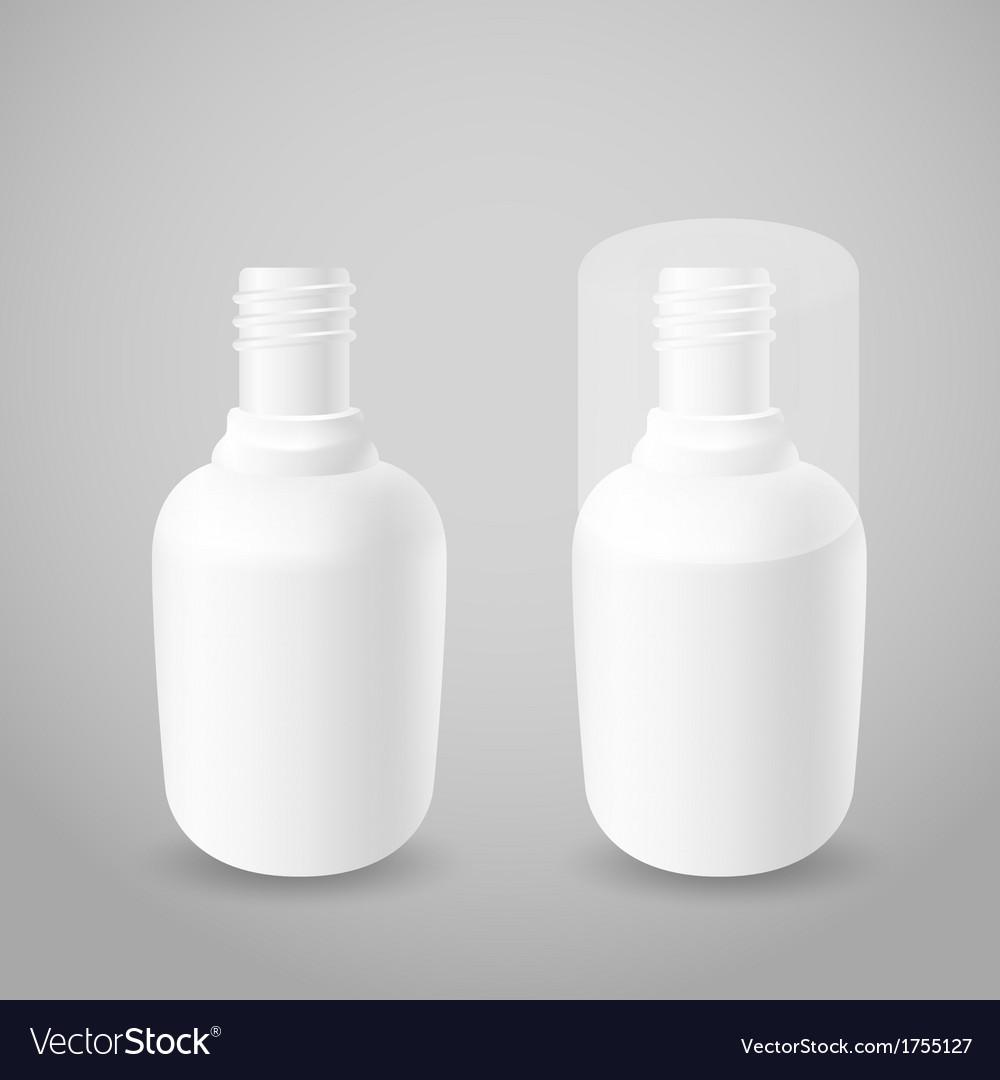 White plastic bottles vector image