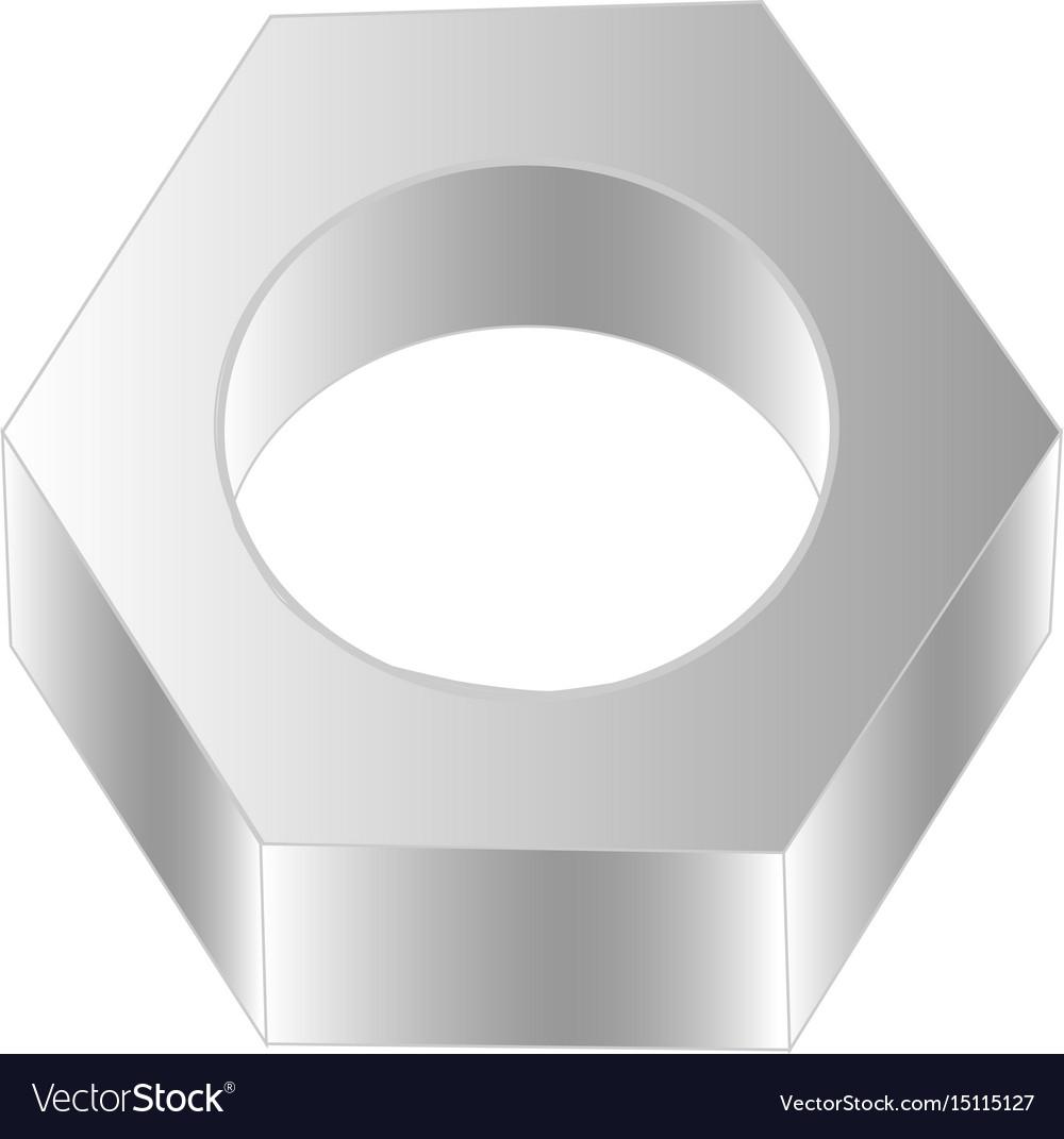 Screw-nut vector image