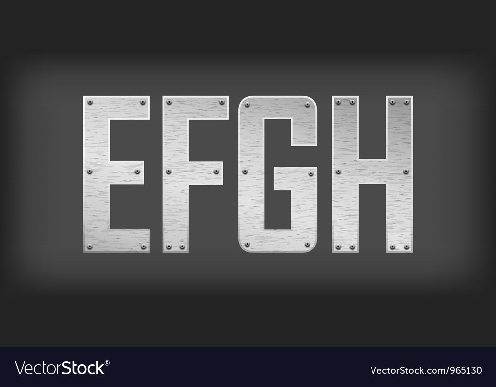 Metal letters and symbols vector image