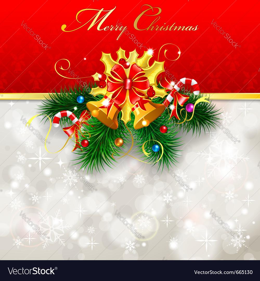 Christmas greeting card vector image