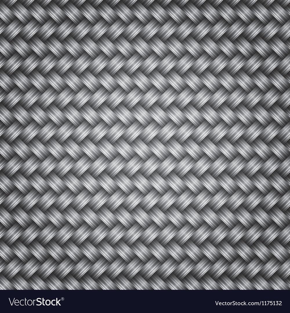 Metal fiber wicker texture background vector image