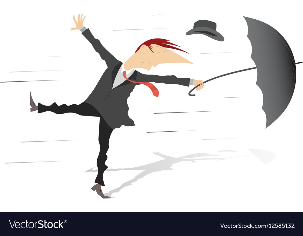 Windy weather vector image