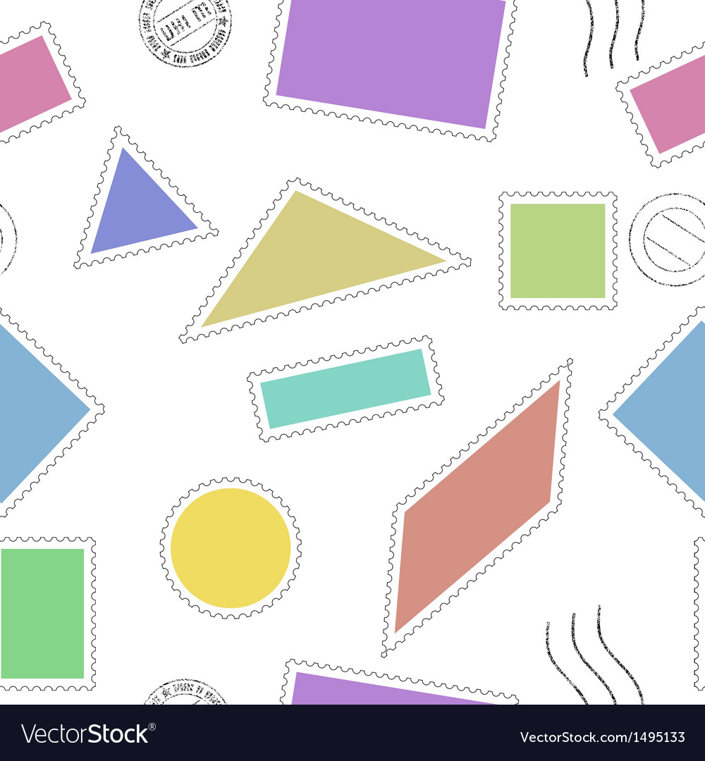 Stamps seamless pattern vector image