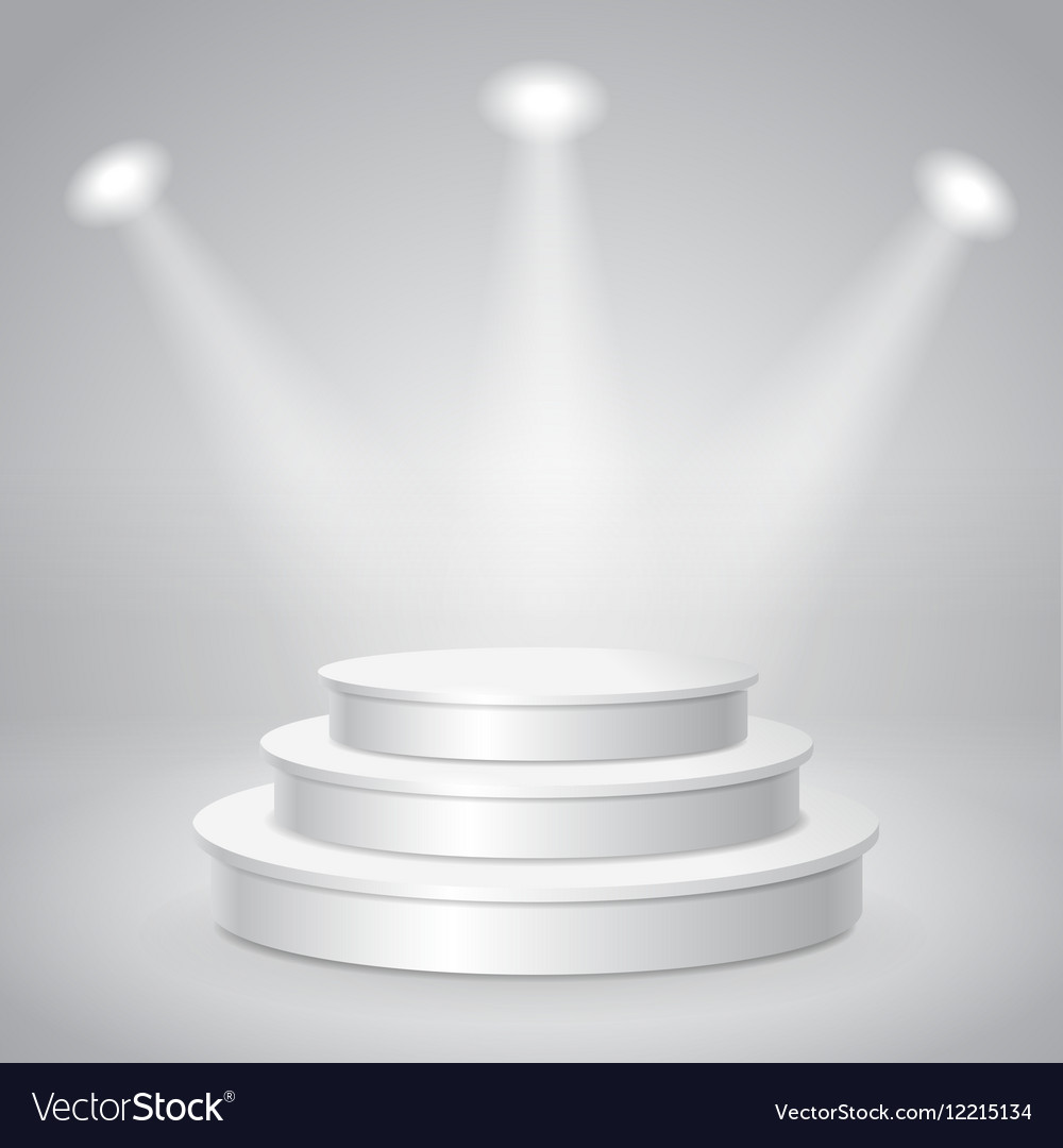 Blank white empty musical concert podium vector image