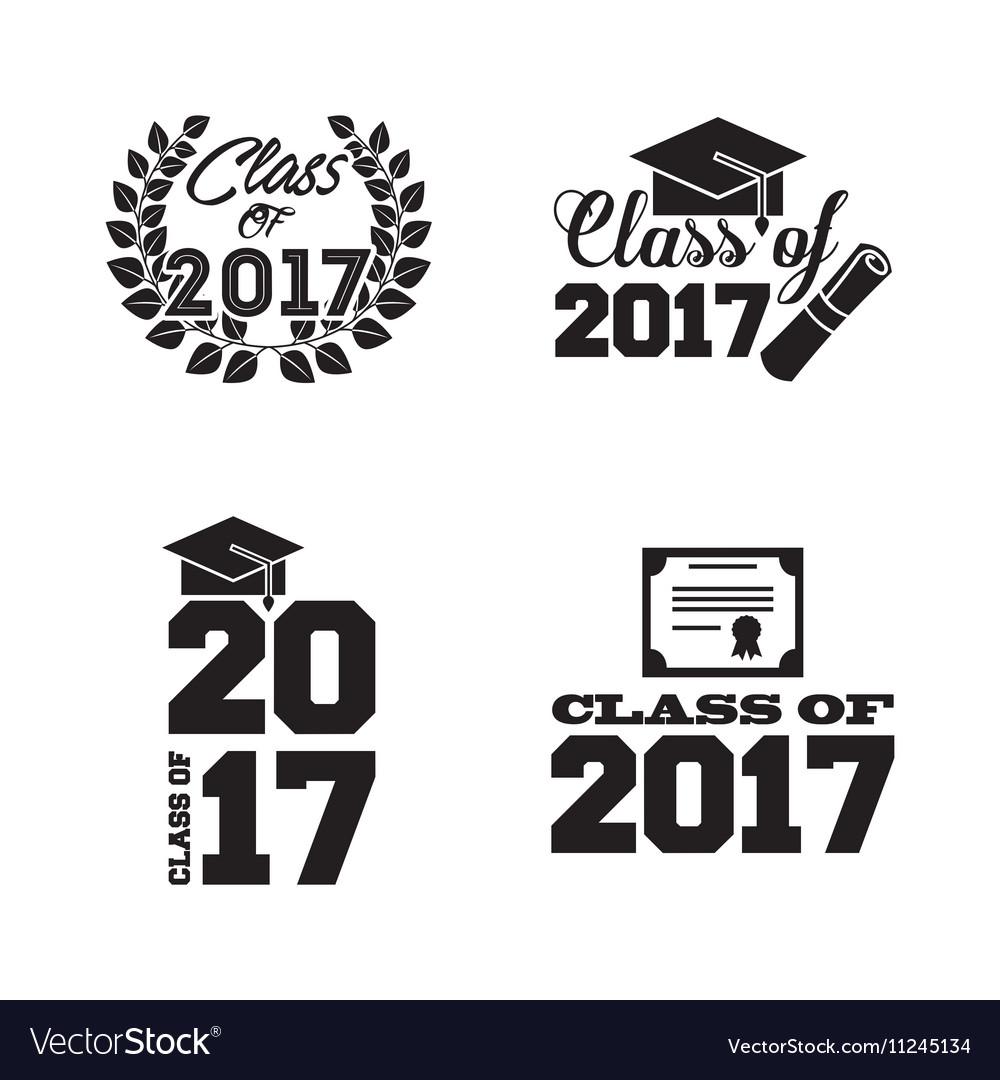 Congratulations class of 2017 card vector image