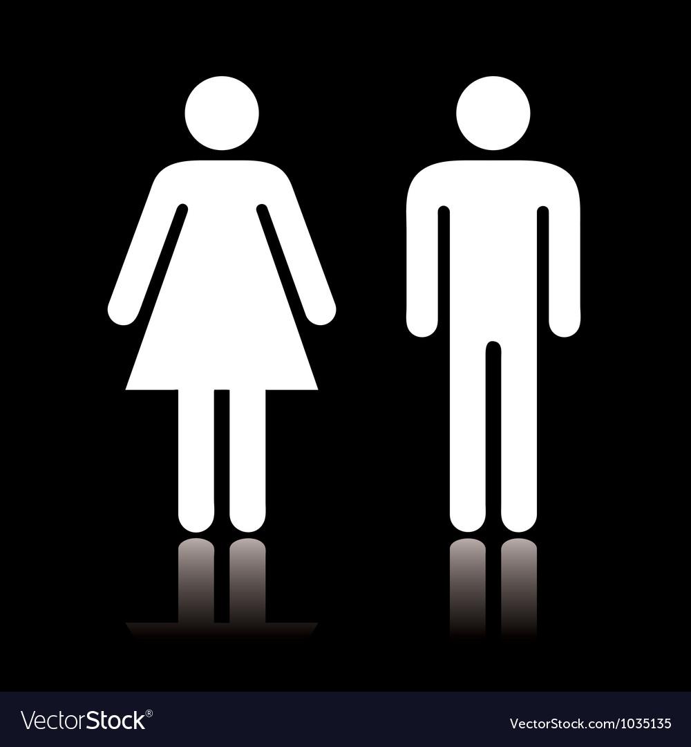 Toilet icon negative vector image