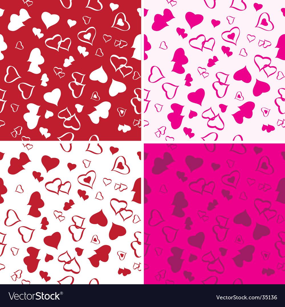 Love background set vector image