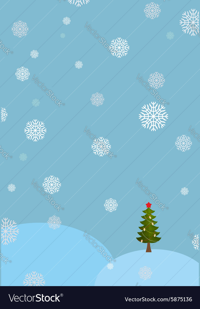 Winter landscape background Snowdrifts and vector image