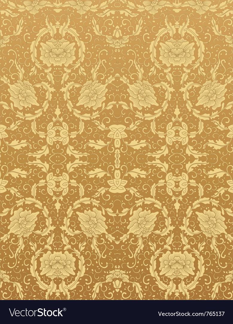 Background floral vintage vector image