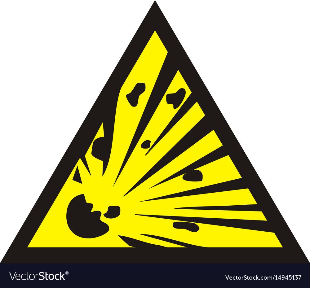 Danger of the explosion warning sign royalty free vector danger of the explosion warning sign vector image buycottarizona