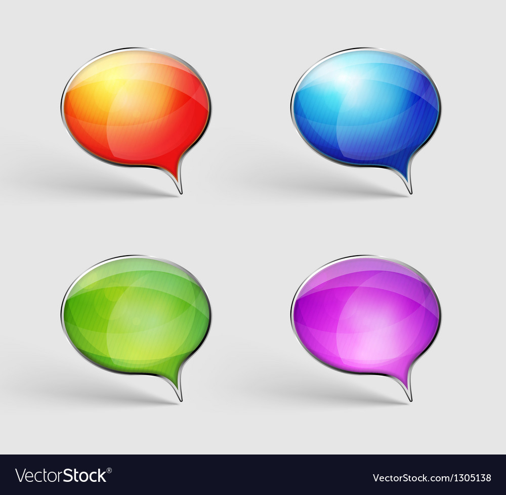 Label in four colors vector image