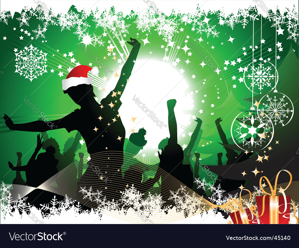 Christmas party background vector image