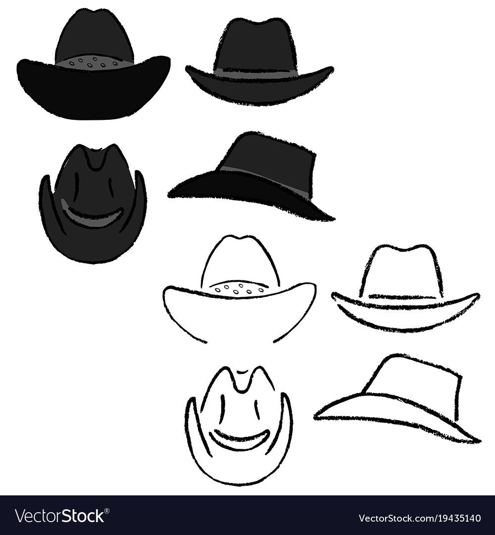 Cowboy hat template Royalty Free Vector Image - VectorStock