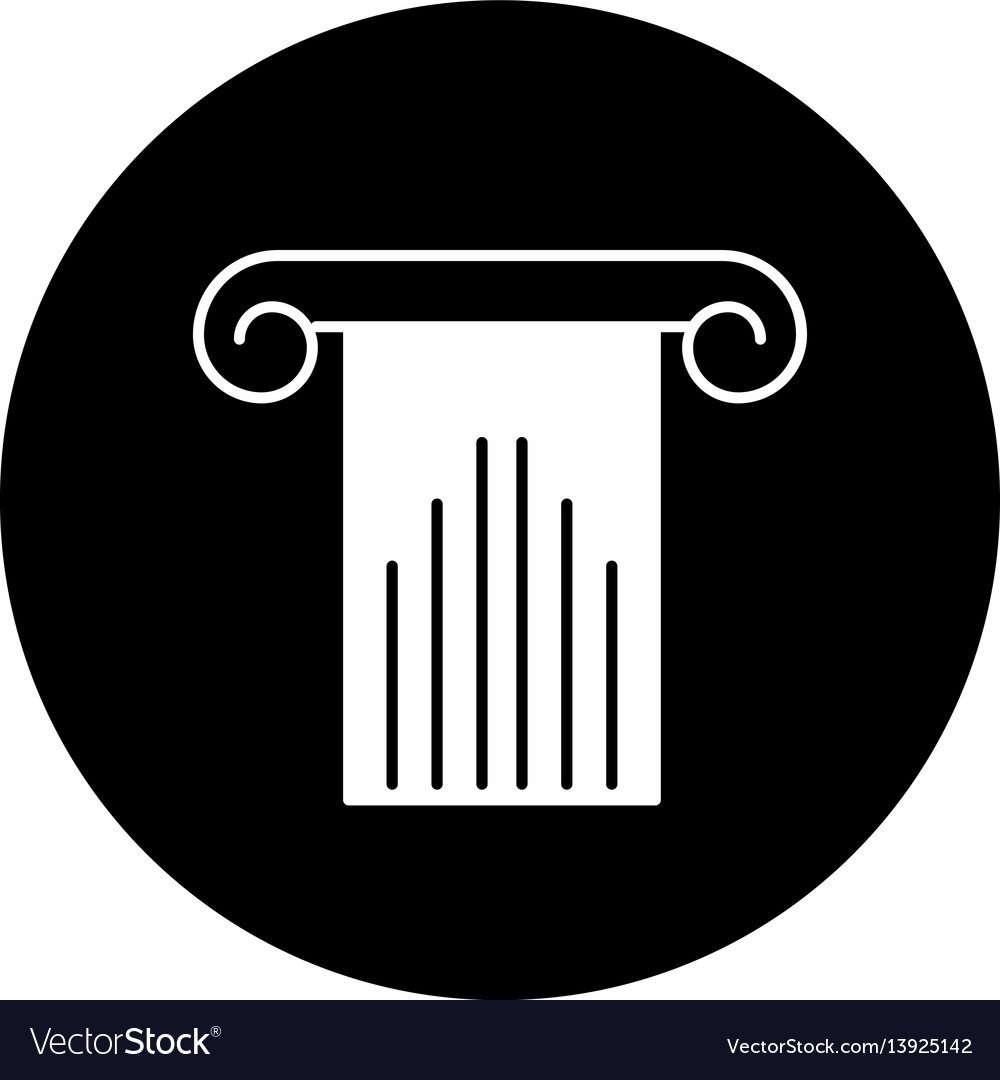 Column silhouette isolated icon vector image