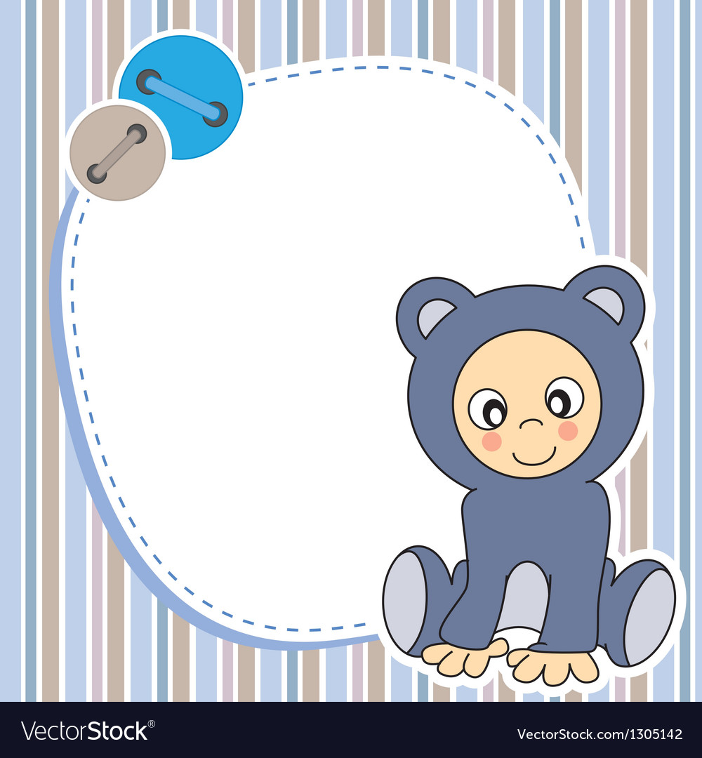 Framework for baby boy vector image