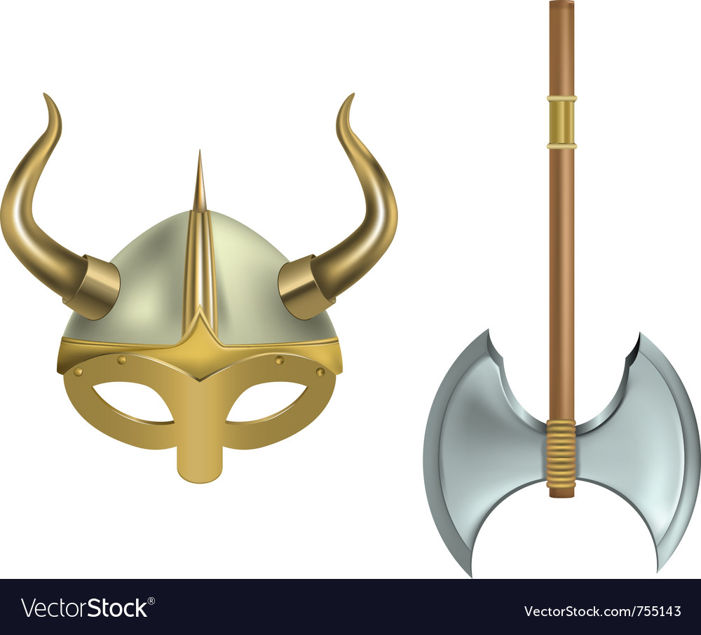 Viking equipment vector image