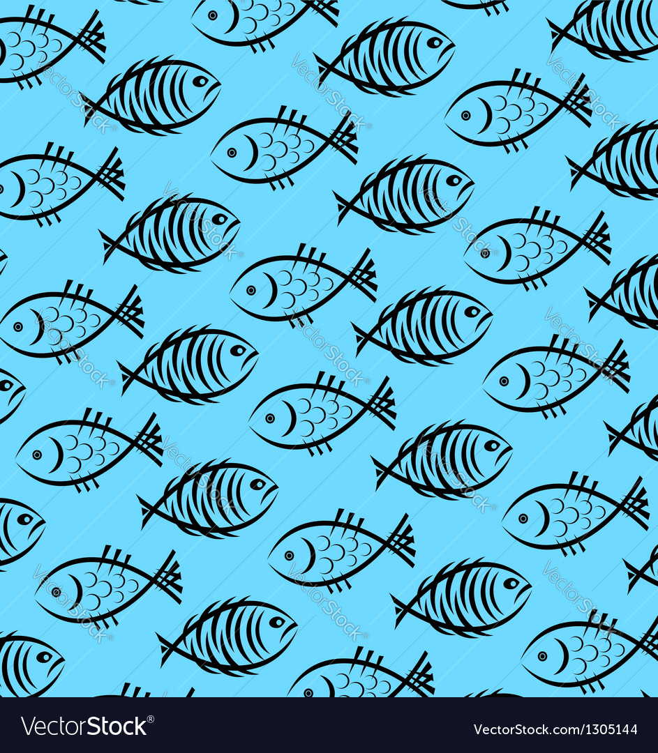 background of fish royalty free vector image vectorstock