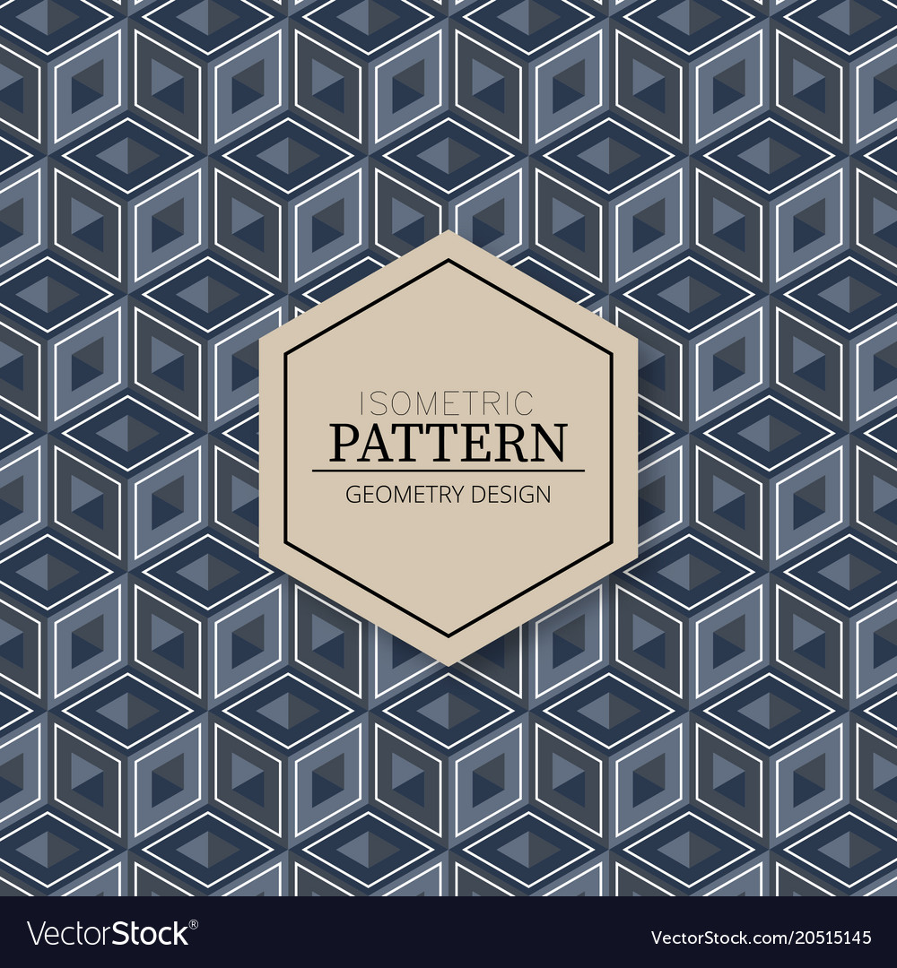 seamless pattern of wooden cubes