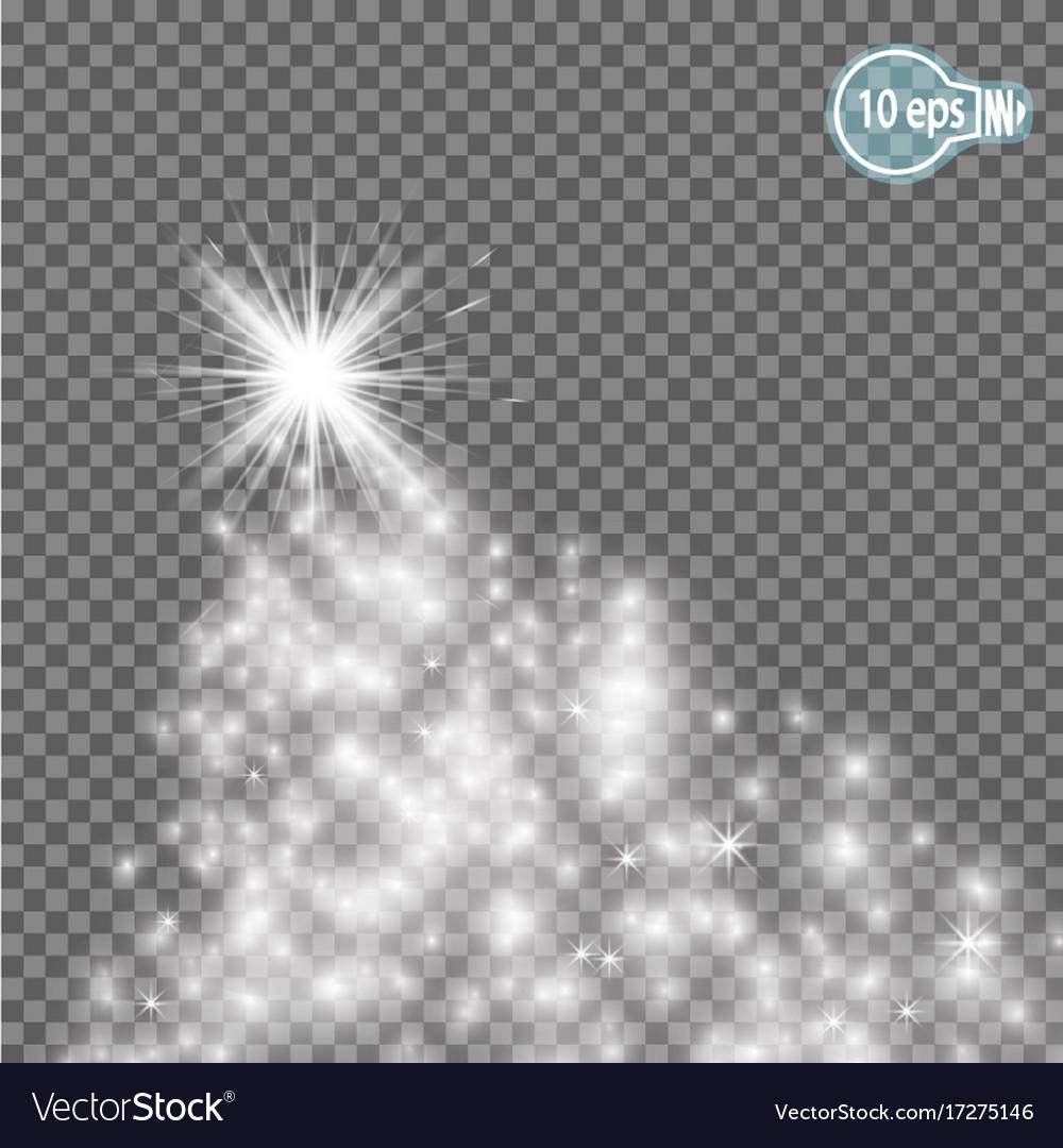 Christmas starmagic stars isolated spark - stock vector image