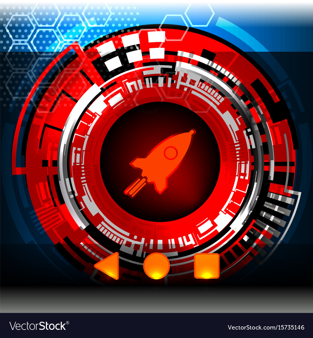 Cyber digital booster vector image