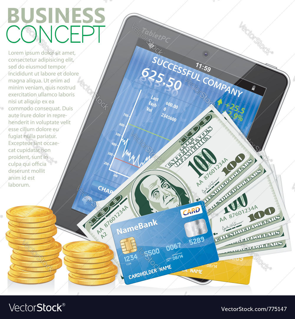 Financial concept vector image