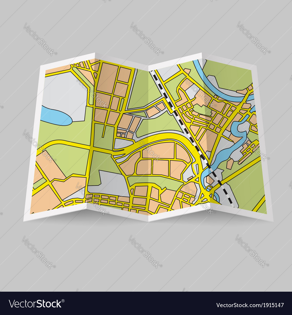 fold out map vector images 18