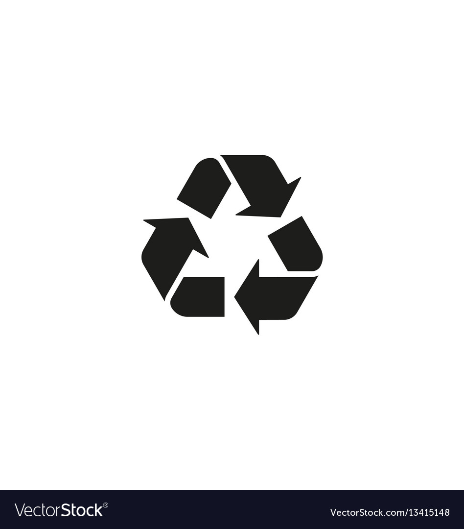 Recycling symbol isolated on white background vector image