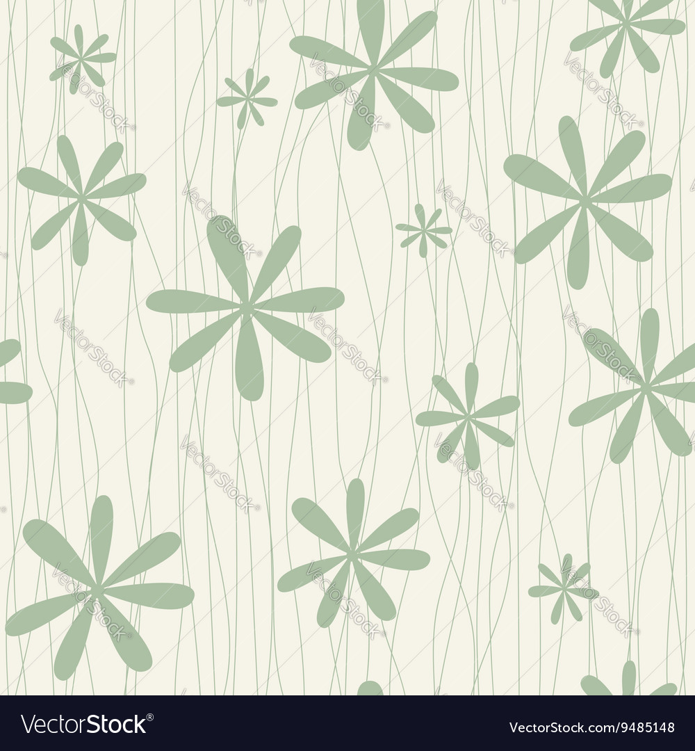 Retro floral background with camomiles vector image