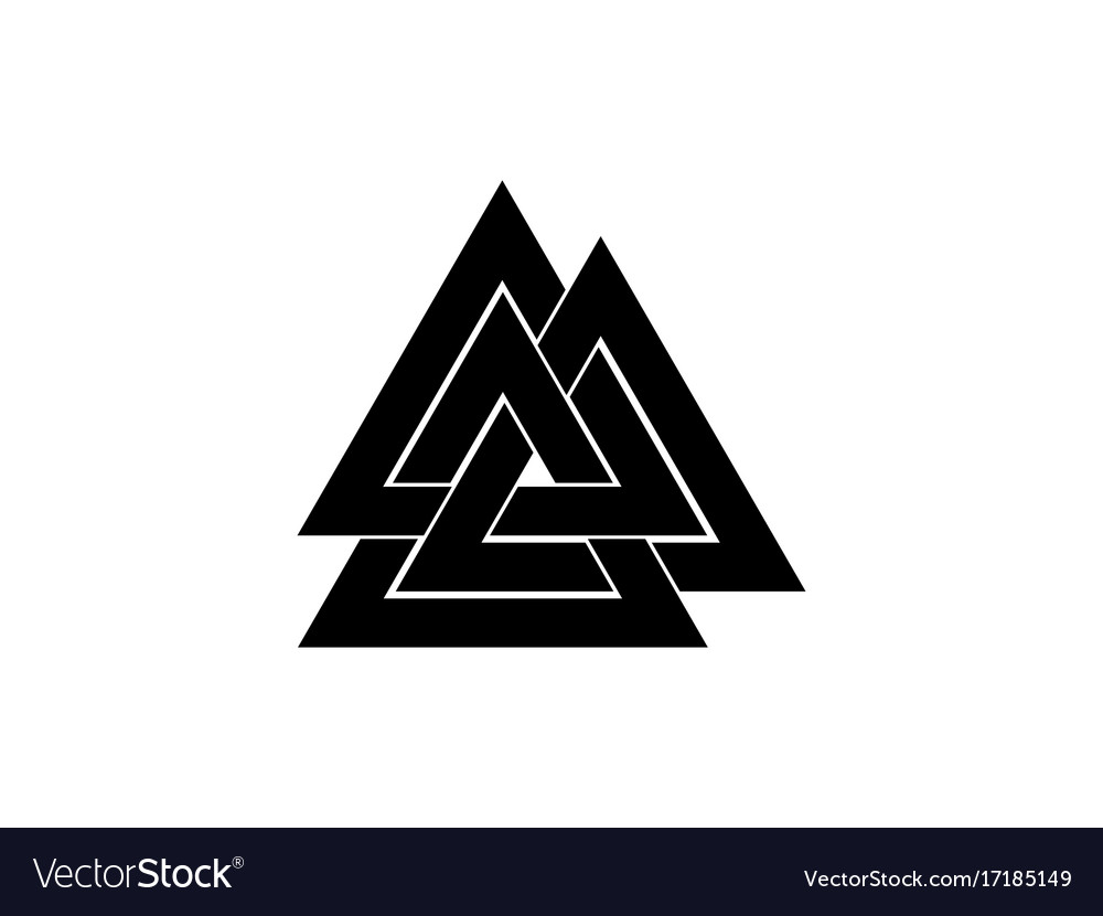 Valknut is a symbol of the worlds end of the tree vector image valknut is a symbol of the worlds end of the tree vector image buycottarizona