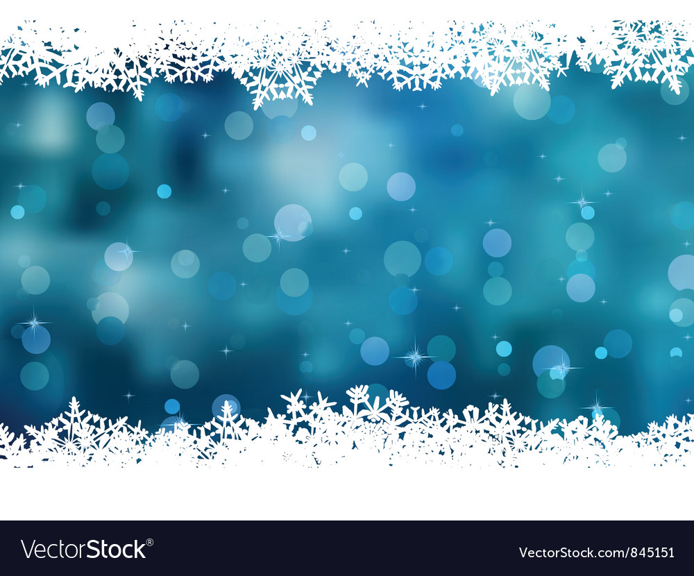 Snowflakes Christmas Card vector image