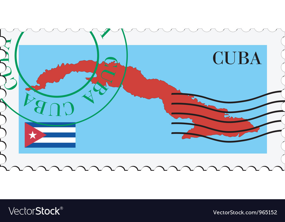 Mail to-from Cuba vector image