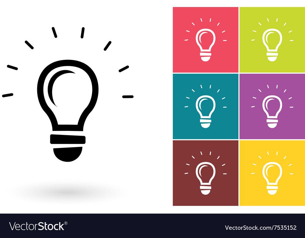 Light lamp icon or idea symbol vector image