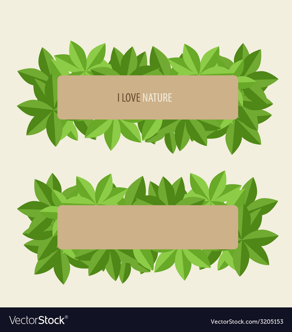 Nature labels Royalty Free Vector Image - VectorStock
