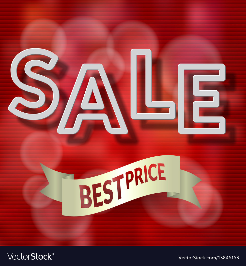 Sale paper design template with shadow vector image