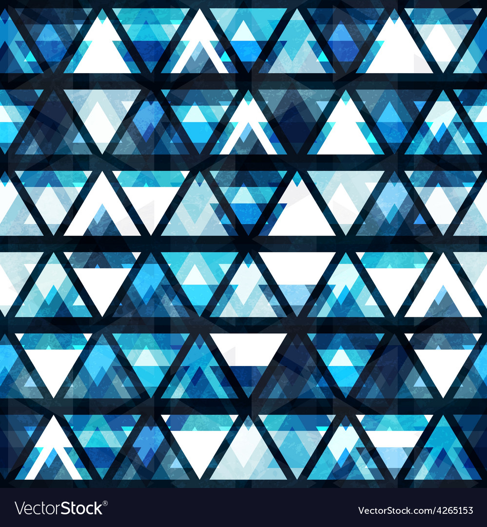 Technology triangle seamless pattern vector image