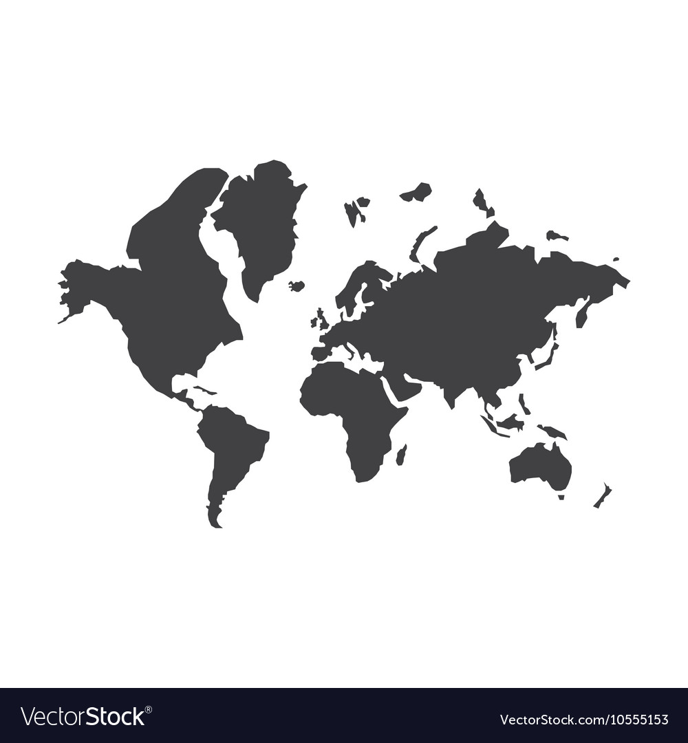 World map silhouette royalty free vector image world map silhouette vector image gumiabroncs Gallery