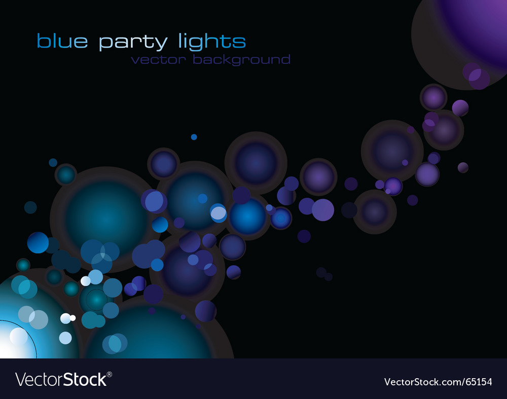 Party lights vector image