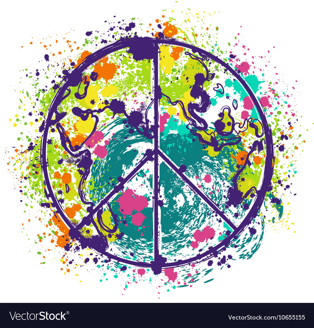 World Globe Peace Banner Map With Doves Stock Vector - Image: 52352279