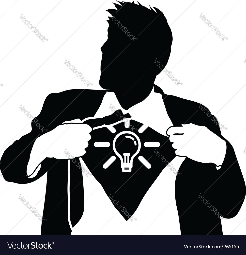 Super idea man vector image