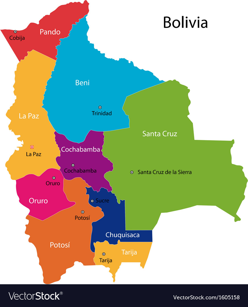 Bolivia Map Royalty Free Vector Image VectorStock - Bolivia map