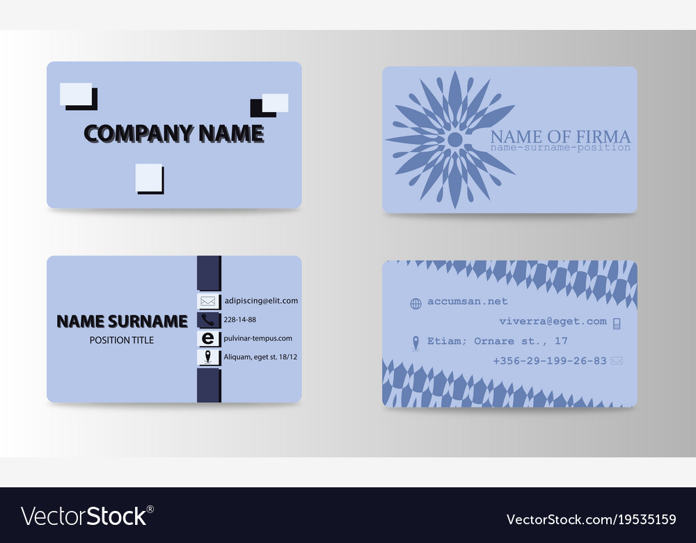 Modern And Creative Business Card Background