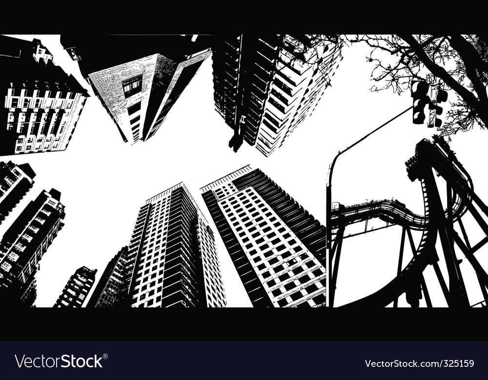 Graphic buildings vector image
