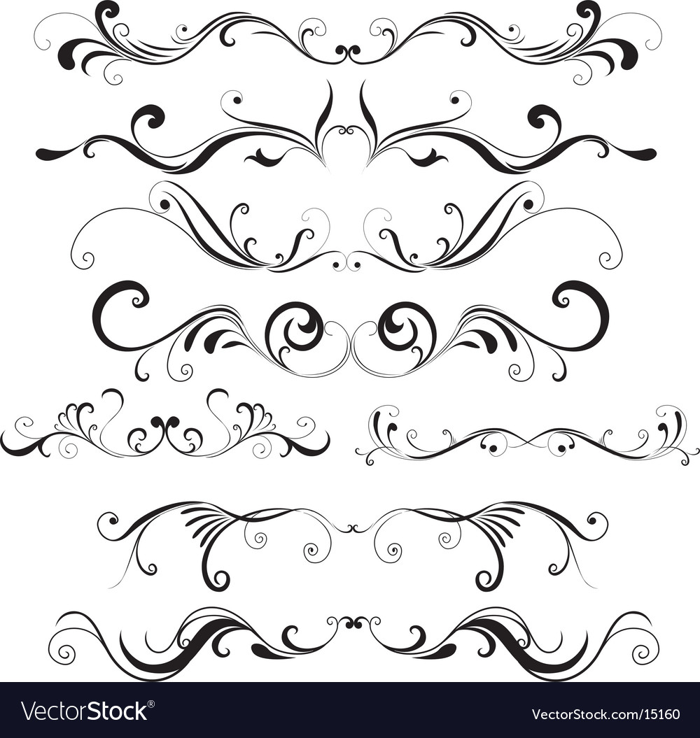 Floral trims vector image