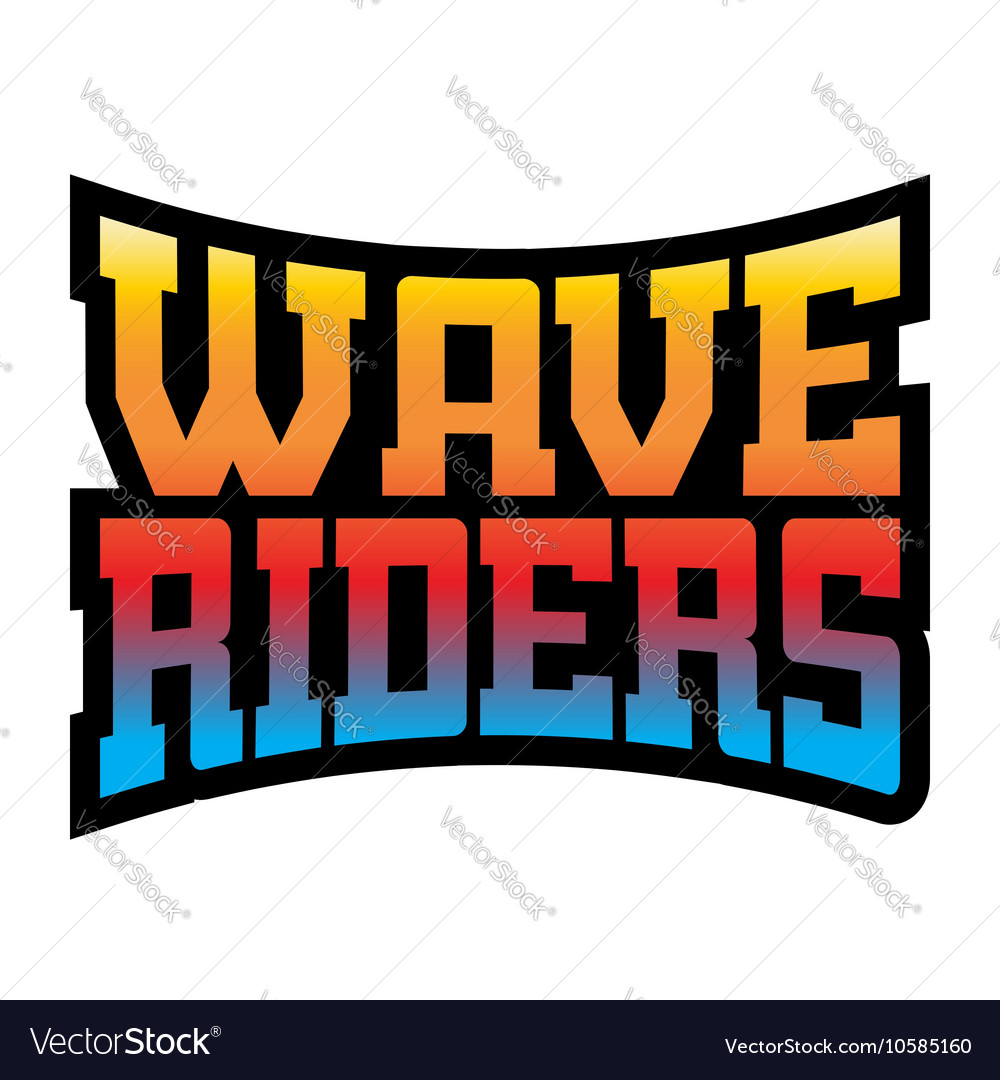 Wave riders t shirt typography graphics rainbow vector image