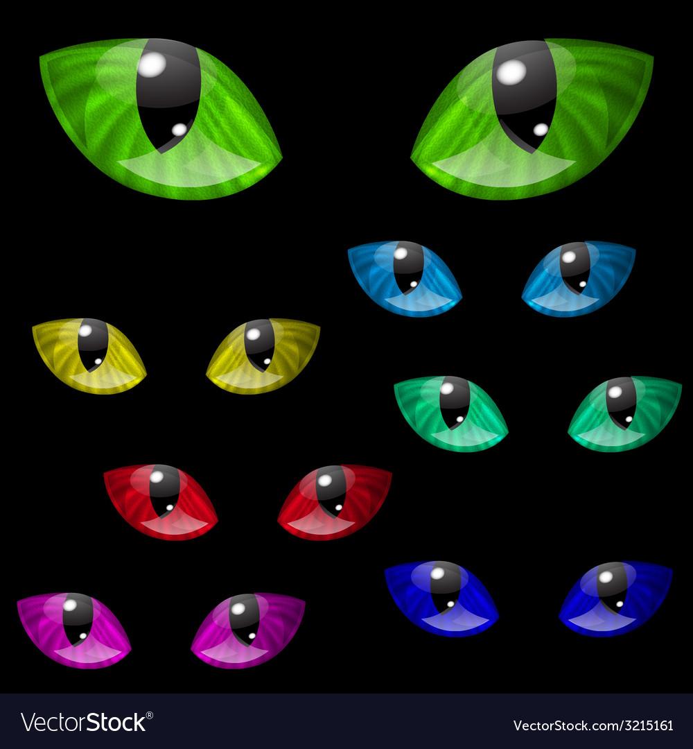 Cat eyes Royalty Free Vector Image - VectorStock (1000 x 1080 Pixel)