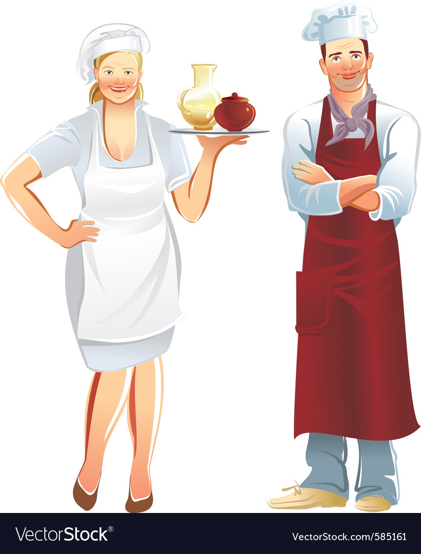 Cook service vector image