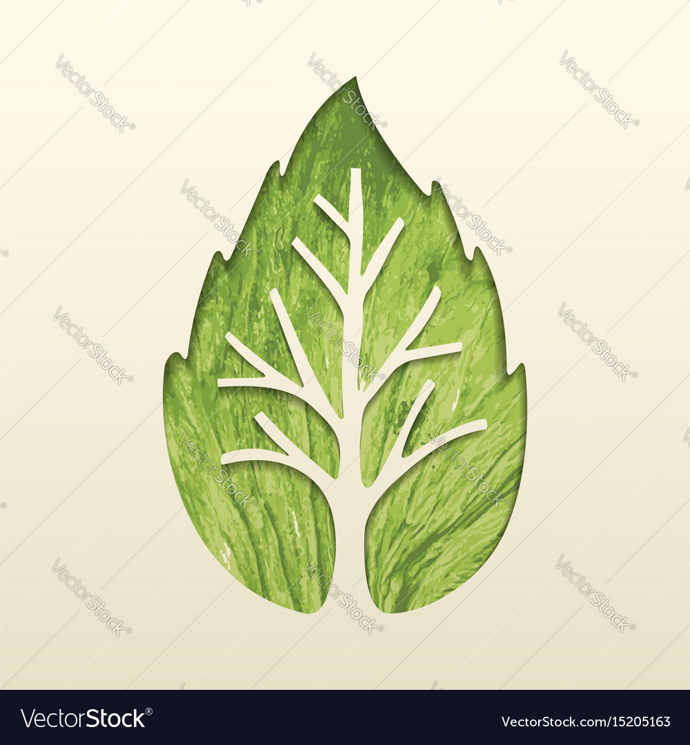 Tree leaf concept design for environment help vector image
