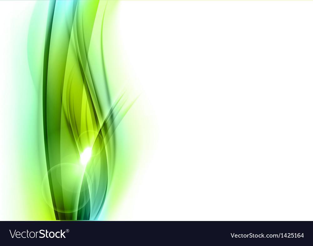 Background green wave vhite vertical vector image