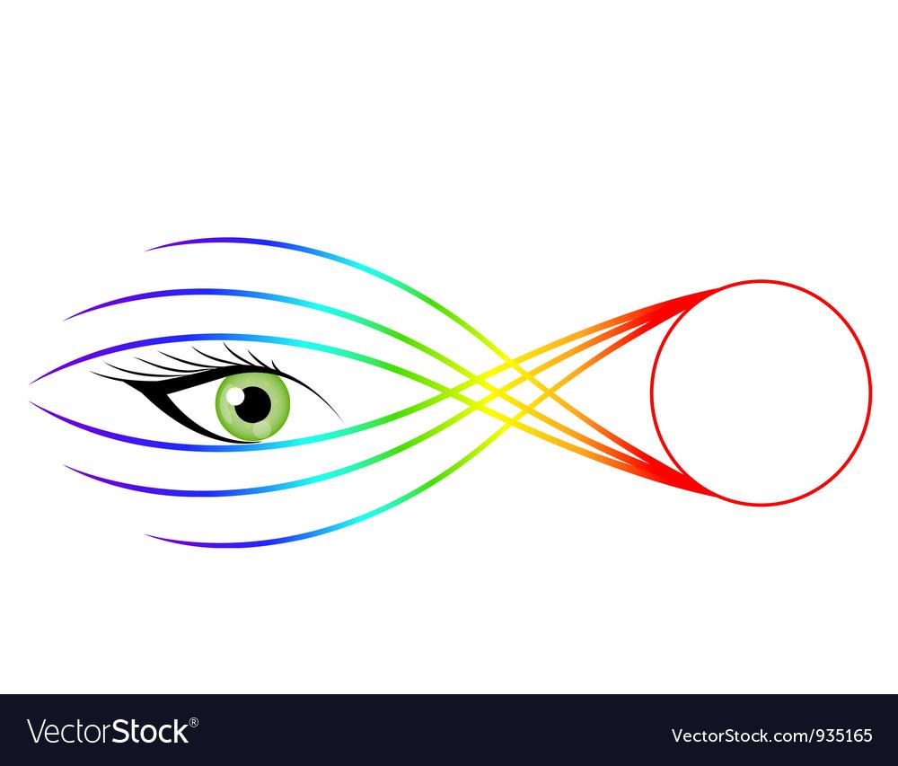 Striking eye vector image